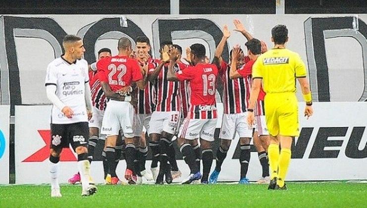 O São Paulo empatou contra o Corinthians por 2 a 2 na Neo Química Arena. Miranda e Luciano fizeram os gols do Tricolor no jogo, sendo os melhores da equipe em campo. Veja as notas do Tricolor no Majestoso. (Por Gabriel Santos)