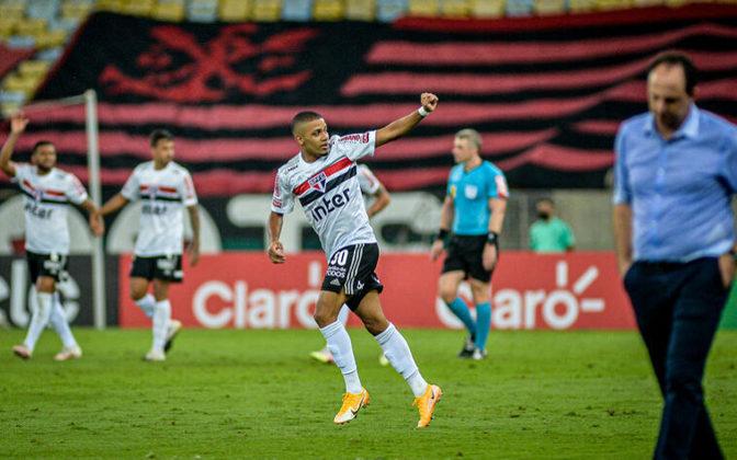 O São Paulo fez mais um bom jogo contra o Flamengo nesta temporada. Na noite desta quarta, o Tricolor contou o talento do jovem Brenner para derrotar o Rubro-negro e sair em vantagem nas quartas de final da Copa do Brasil. Méritos para o técnico Fernando Diniz (notas por Redação LANCE!).