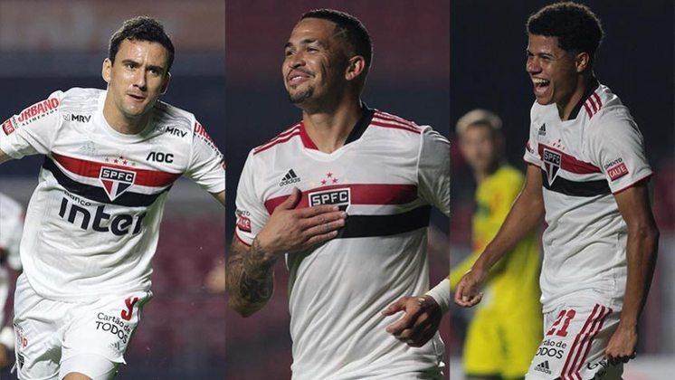 O São Paulo venceu o Campeonato Paulista e teve também o melhor ataque da competição, com 38 gols marcados. Veja os jogadores do Tricolor que marcaram no estadual, sem contar os gols contra