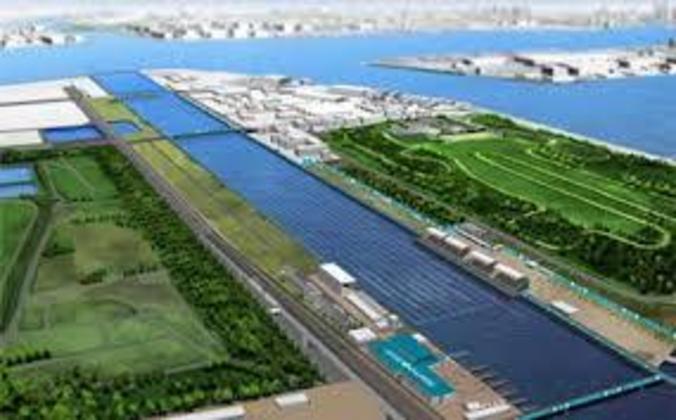 O Sea Forest Waterway receberá provas de canoagem e remo. Próximo ao centro de Tóquio, o local está nos planos do governo para outras competições internacionais aquáticas.