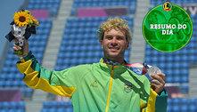 Brasil se destaca no skate, iguala recorde de medalhas e perde no vôlei: veja o resumo do dia