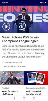 O Sky Sports também adota a linha de que o camisa 30 quer vencer novamente uma Champions League