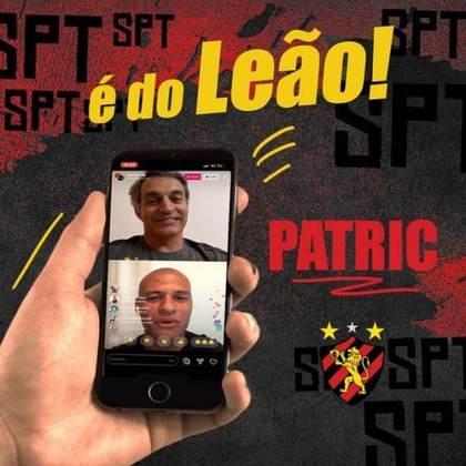 O Sport contratou o lateral Patric, que havia rescindido com o Atlético-MG. O jogador assinou com o Leão até o final de 2021.