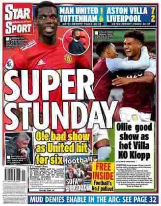O Star Sport optou pela brincadeira ao dizer que Manchester United e Liverpool estavam em uma super ressaca no último domingo