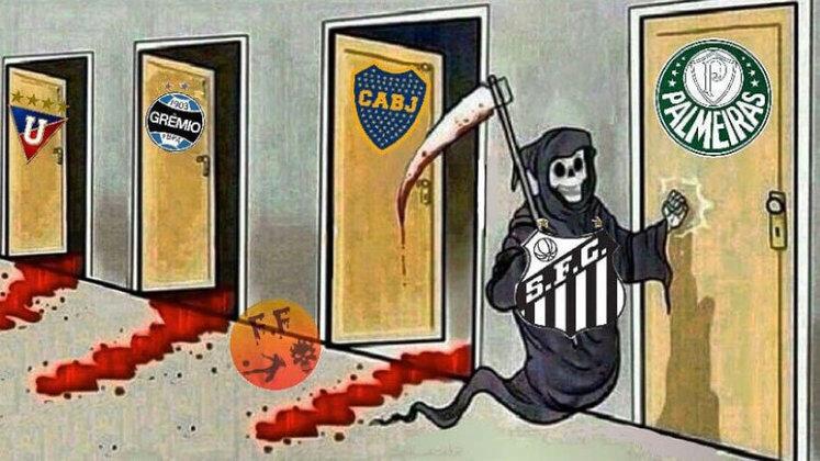 O time comandado por Cuca não deu chances ao Boca Juniors, venceu por 3 a 0 dentro da Vila e garantiu a classificação para final contra o Palmeiras. O resultado repercutiu na web e rendeu uma enxurrada de memes. Confira!