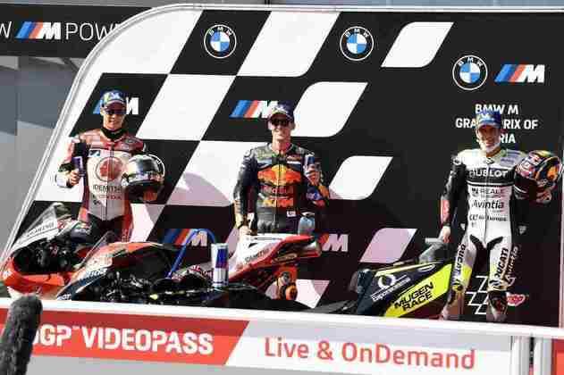 O top-3 do GP da Estíria (Foto: Red Bull Content Pool)