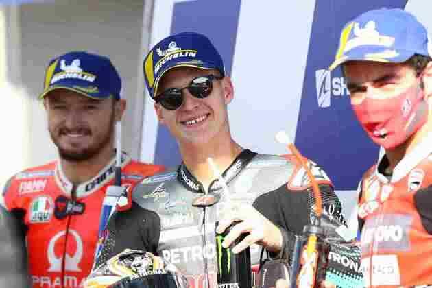 O top-3 do GP da França da MotoGP