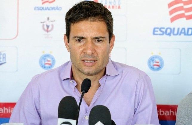 O Tricolor baiano também anunciou a saída do diretor de futebol Diego Cerri, que tinha vínculo até o final de 2020 e não teve contrato renovado.