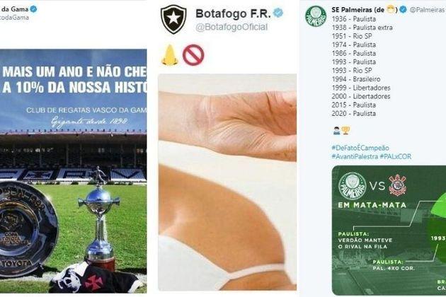 O Twitter é uma das redes sociais mais utilizadas no mundo, principalmente pelos clubes. Não só para questões de informação, mas sempre rola aquela provocaçãozinha quando há rivalidade. Por isso, veja as principais provocações do futebol brasileiro na plataforma. Confira!