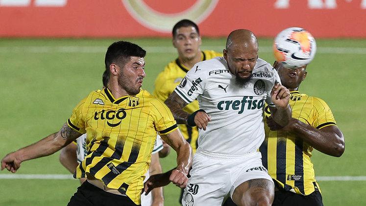 O único tropeço do Palmeiras na fase de grupos foi no empate sem gols contra o Guaraní, no Paraguai
