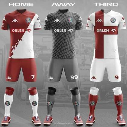 O uniforme da Alfa Romeo