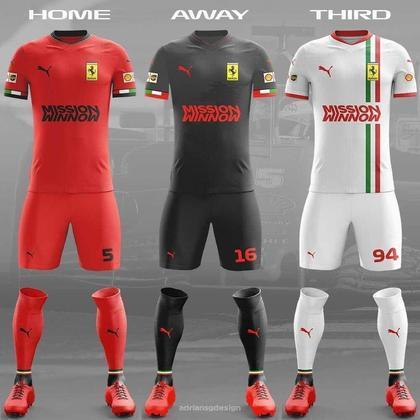 O uniforme da Ferrari
