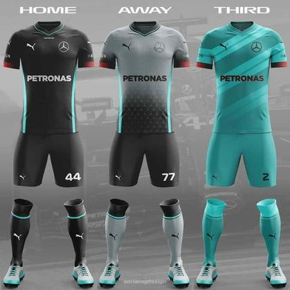 O uniforme da Mercedes
