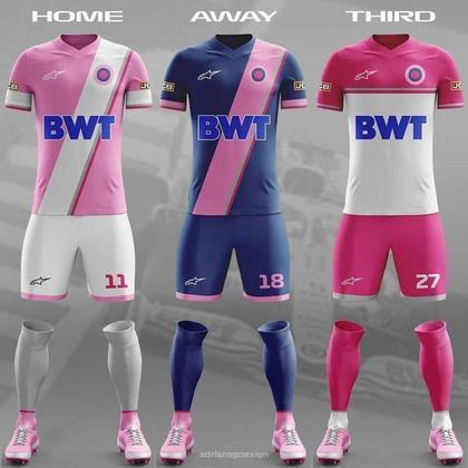 O uniforme da Racing Point