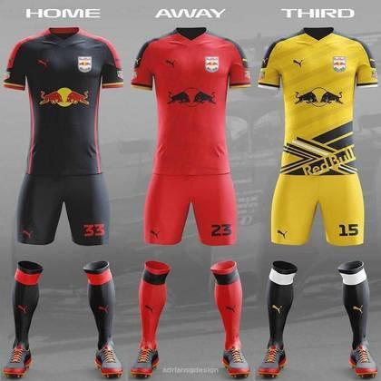 O uniforme da Red Bull