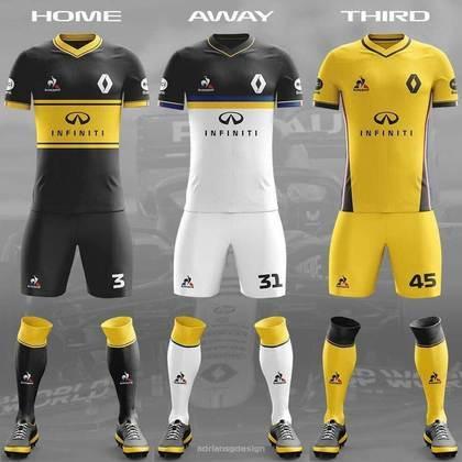 O uniforme da Renault