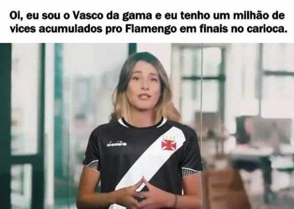 O Vasco pegou fama de ser sempre vice, principalmente para o Flamengo, e convive com a provocação até hoje