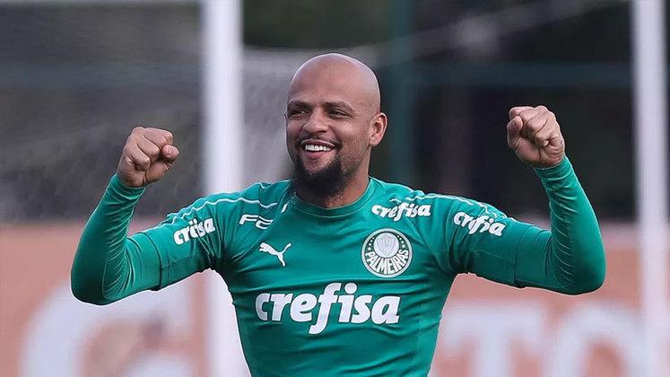 O volante Felipe Melo tem contrato com o Palmeiras até dezembro de 2021.