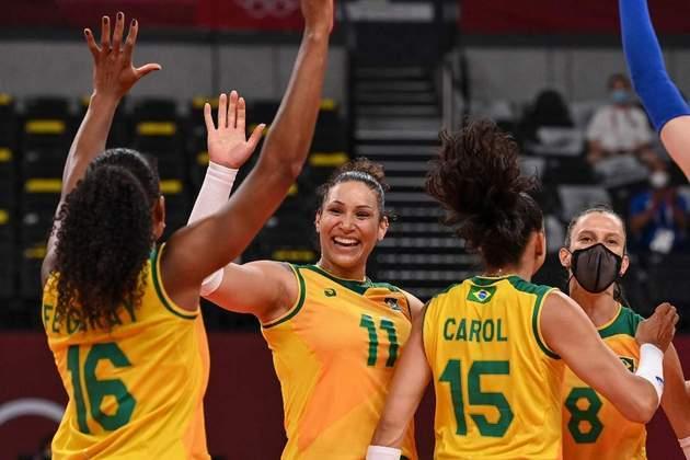 O vôlei feminino do Brasil não teve dificuldades para bater o Japão por 3 sets a 0 e conquistar a terceira vitória nos Jogos Olímpicos de Tóquio.