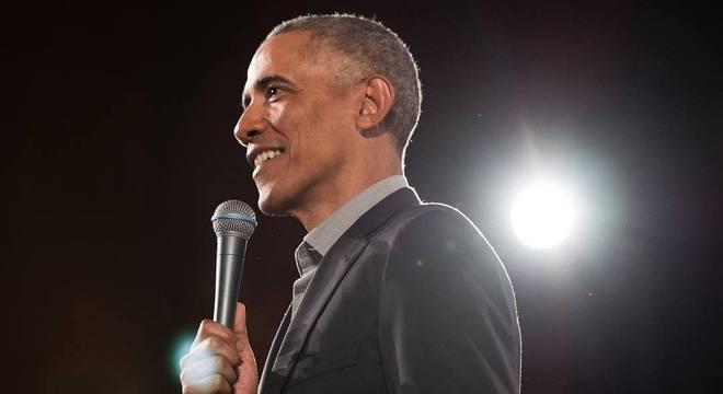 Ex-presidente dos EUA Barack Obama participa de evento em São Paulo
