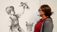 Obra de Banksy bate valor recorde e dinheiro ajudará serviço de saúde