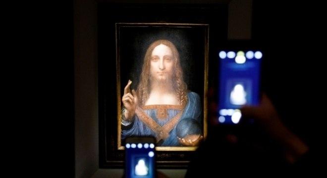 Obra de Leonardo da Vinci foi leiloada em 2017 por 450 milhões de dólares