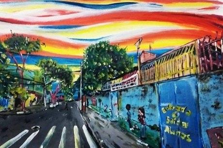 Obra de Chuck inspirada no quadro O Grito, de Edvard Munch