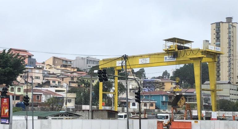 Obras do metrô da linha 6-Laranja, onde será a estação João Paulo I, na zona norte de SP