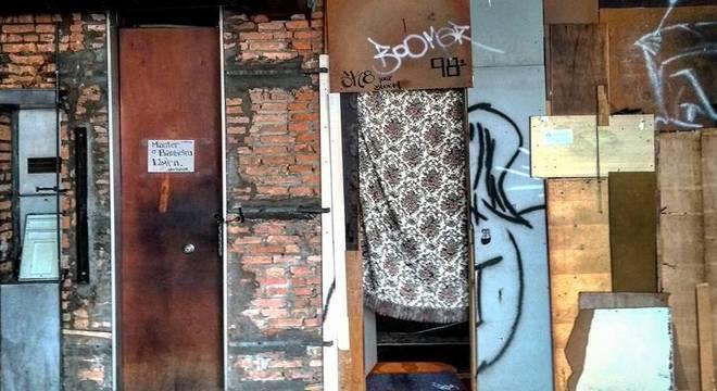 Um dos andares da ocupação do Wilson Paes de Almeida