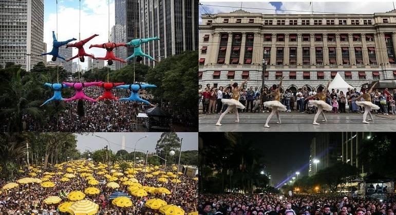 Ocupação das ruas se transformou com Virada Cultural, Lei Cidade Limpa, Carnaval e Paulista Aberta