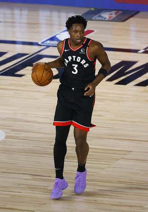 OG Anunoby (Toronto Raptors) 6,0 - Existem coisas que as estatísticas não conseguem mostrar e, no caso de Anunoby, isso aconteceu diante do Brooklyn Nets. O ala fez 12 pontos e pegou cinco rebotes, mas ficou pendurado com faltas