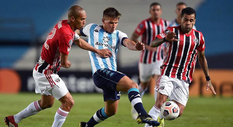 São Paulo e Racing se enfrentam nesta terça-feira pelas oitavas da Libertadores