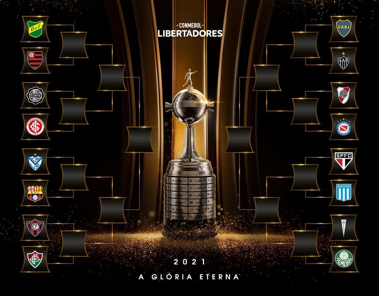 Oitavas da Libertadores terá três confrontos entre times argentinos e brasileiros