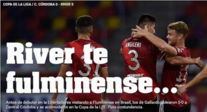 Olé brinca com Fluminense após goleada do River