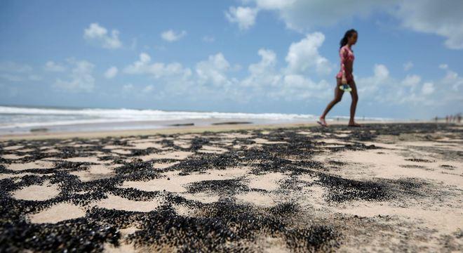 Manchas de óleo já atingem mais de 300 praias no Nordeste