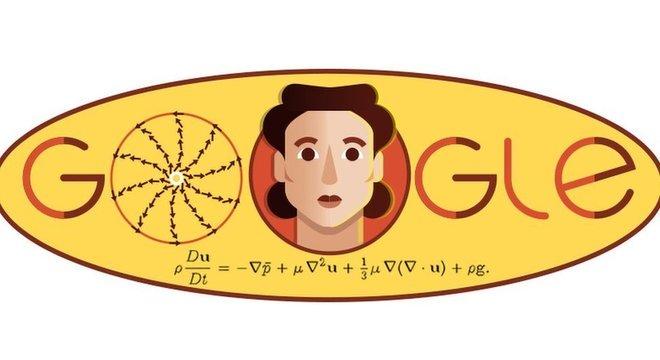 O doodle do Google em homenagem a Olga Ladyzhenskaya