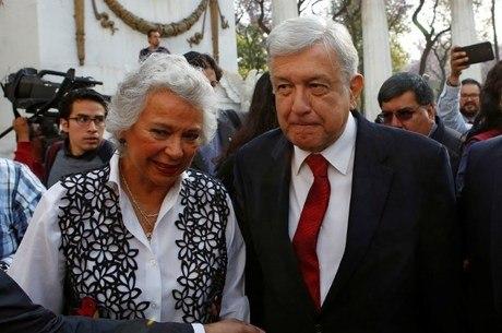 Olga Sanchez e o presidente Manuel López Obrador