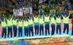 Atual campeão, o Brasil é um dos países mais vencedores do vôlei masculino olímpico. O país conquistou três vezes a medalha de ouro, mesmo número de Estados Unidos e União Soviética