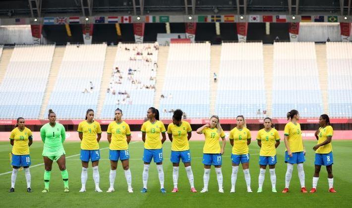 A seleção brasileira feminina de futebol ganhou por 5 a 0 da China, na manhã desta quarta-feira (21), na estreia nosJogos Olímpicos Tóquio 2020