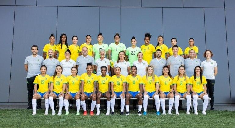 Elenco da seleção brasileira feminina de futebol que vai disputar os Jogos Olímpicos de Tóquio 2020