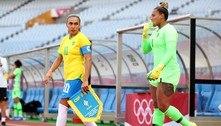 Marta se torna a única jogadora a fazer gols em cinco olimpíadas