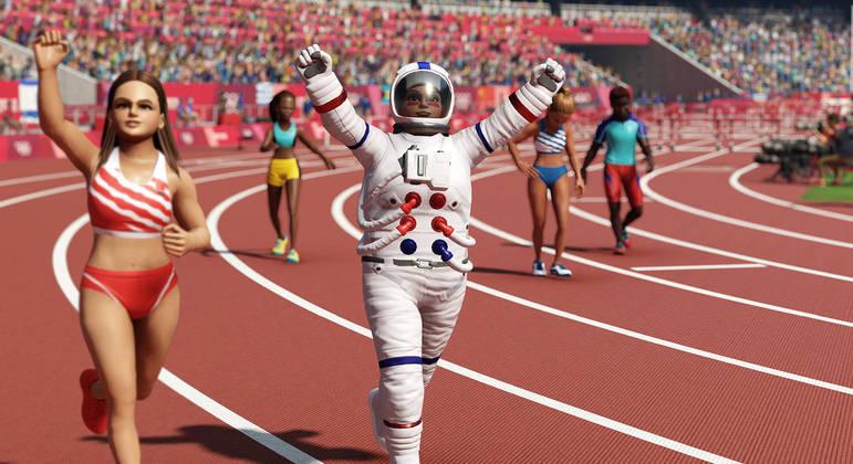No game da Sega, dá para criar seu atleta e customizá-lo como quiser