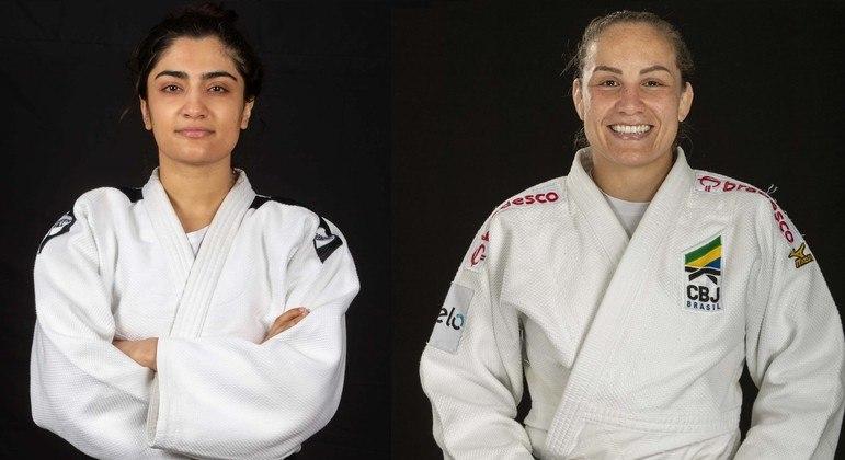 Nigara Saheen e Maria Portela se enfrentaram na categoria até 70 kg