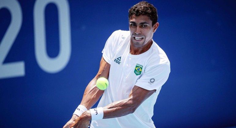 Thiago Monteiro perdeu para tenista alemão e está eliminado da Olimpíada