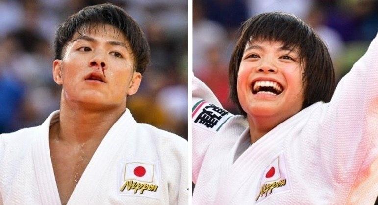 Hifumi e Uta Abe ganharam medalha de ouro no judô neste domingo