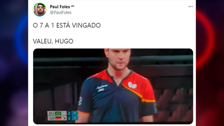 Olimpíadas de Tóquio: internautas fazem memes e piadas com 7 a 1 do Brasil sobre Alemanha no tênis de mesa