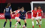olimpiadas, futebol feminino, grã-bretanha x chile