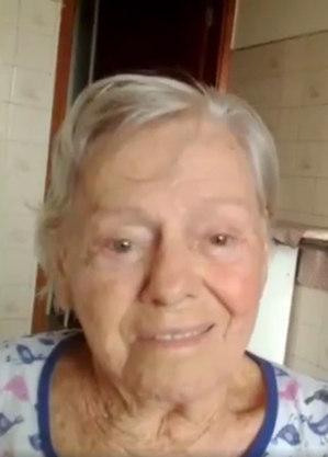 Olinda Bolsonaro, 93 anos, vacinada