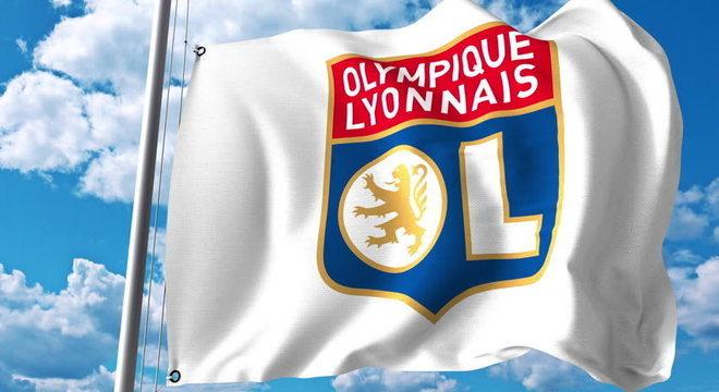 A bandeira do Olympique Lyonnais