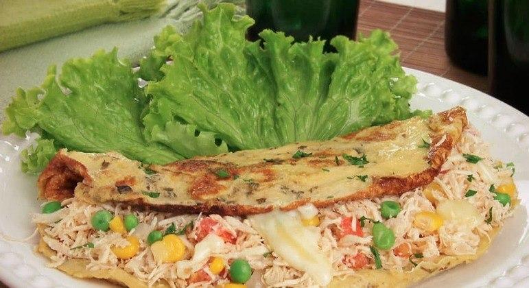 Omelete de frango